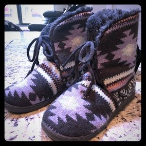 Muk Luks insulated ankle booties